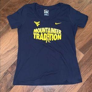 NWOT Nike West Virginia Shirt